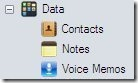 DiskAid5 Contacts, voice memos and notes