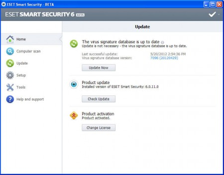 ESET default window