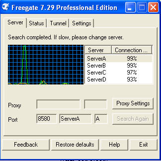 Freegate default window