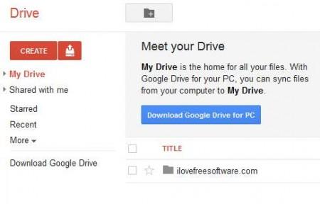 Google Drive default
