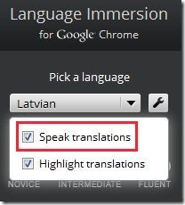 Language Immersion Speak language