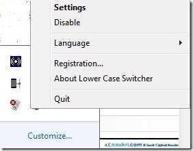 Lower Case Switcher System icon