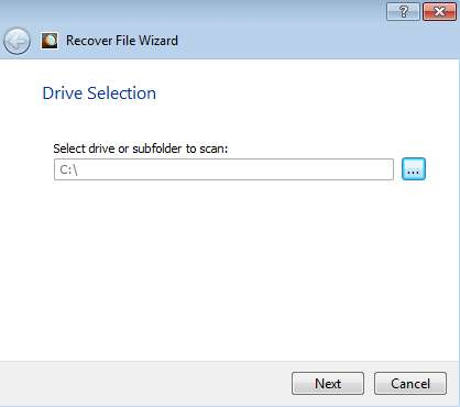 Orion File Recovery wizard