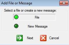 Our secret add files message