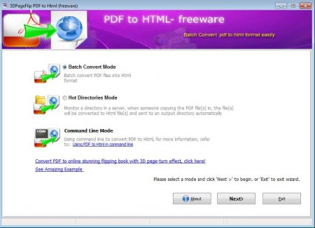 PDF To HTML default window