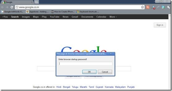 Password Protect Chrome