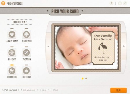 Personal Cards childbirth