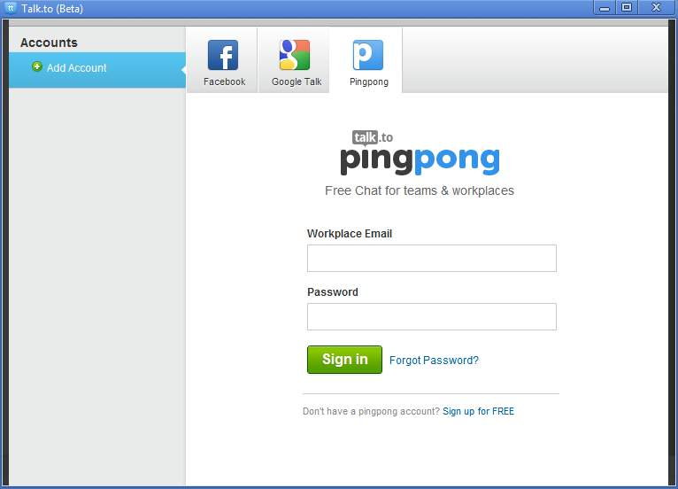 Pingpong add account