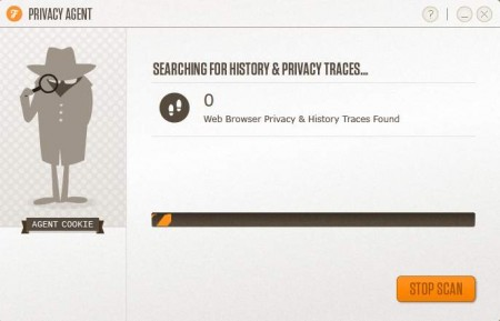 Privacy Agent scan in progress