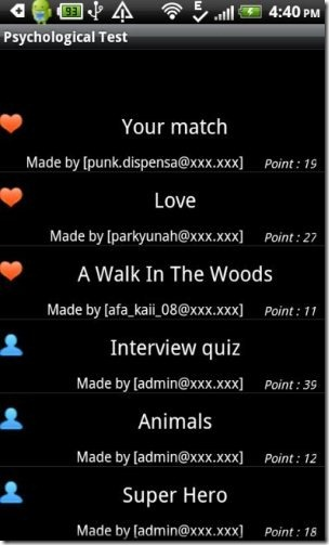 Psychological Test App Android