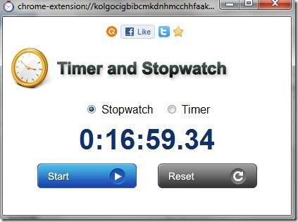 Quickrr Stopwatch