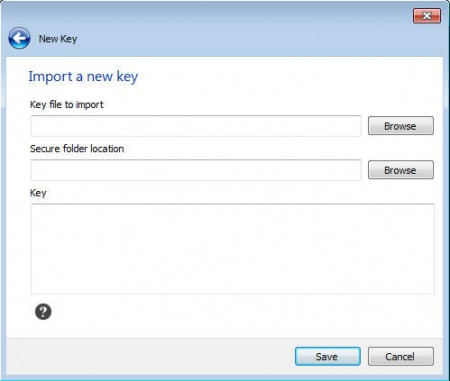 Safebox key import