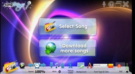 karaoke machine Sing-Magic default window