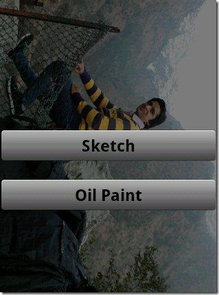 Sketch Me More App options
