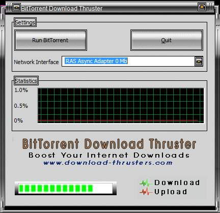 Thruster default window