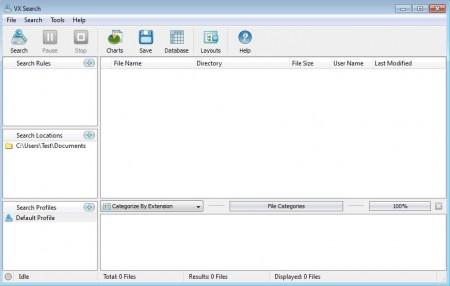 VX Search default window