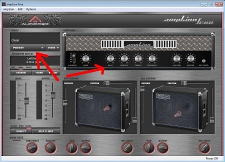 simulate guitar amplifier with amplion. Black Bedroom Furniture Sets. Home Design Ideas
