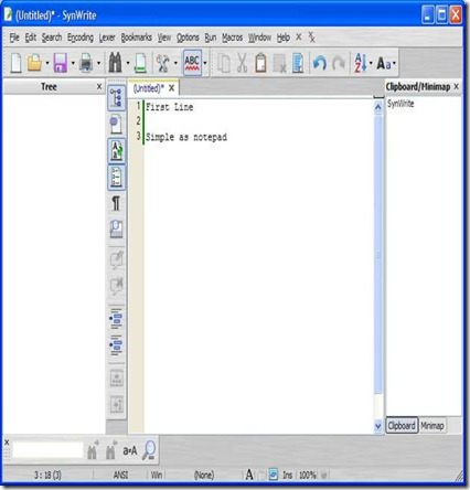 SynWrite free text editor