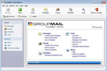 groupmail default window
