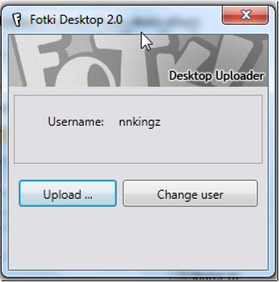 Fotki Desktop Uploader 2.0