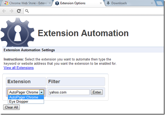 Extension Automation