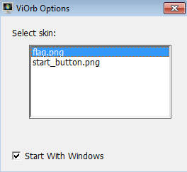 viOrb default window