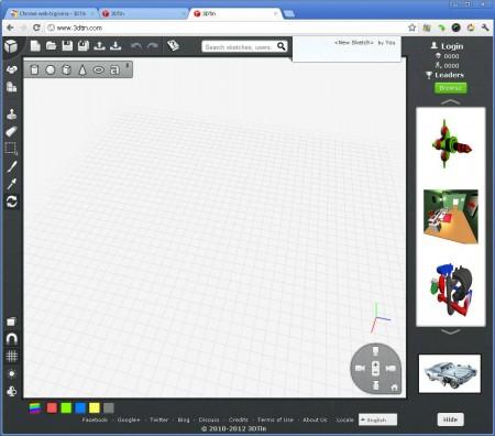 3DTin default window