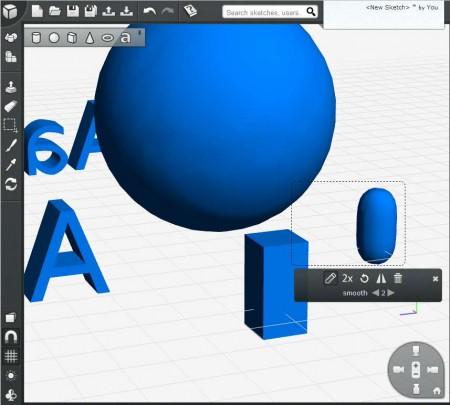 3DTin shape manipulation