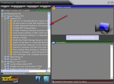 Advanced System Tweaker speed up PC