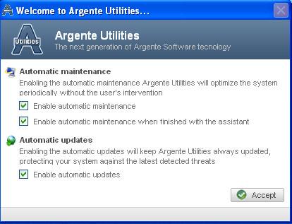 Argente Utilities automatic maintnance updates