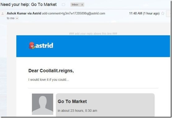 Astrid Task Mail