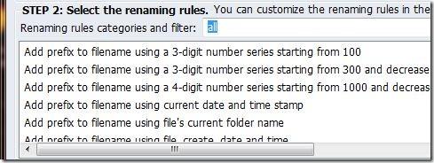 BatchRename Renaming Rules