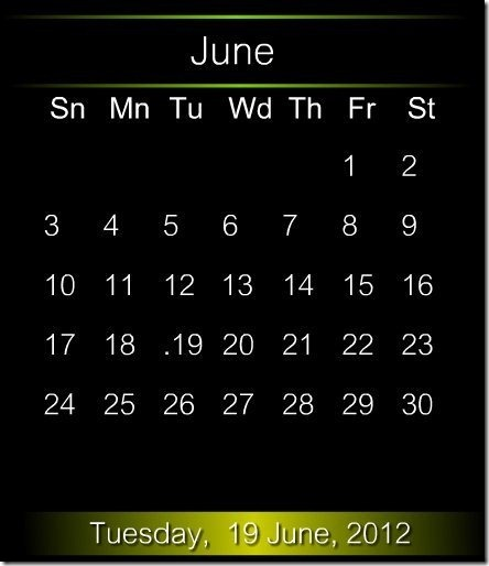 Calendar Screen Saver