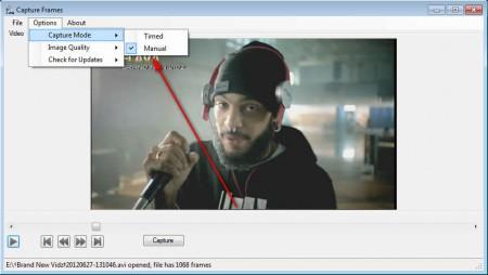 Capture Frame capture mode