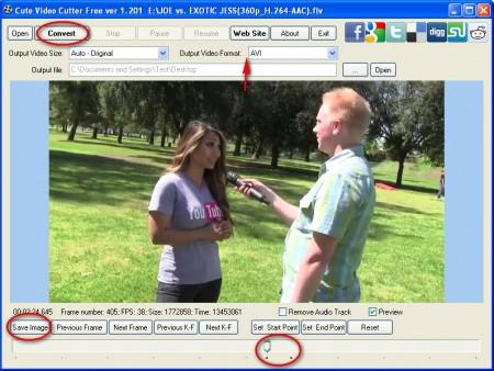 Cute Video Cutter cutting conversion