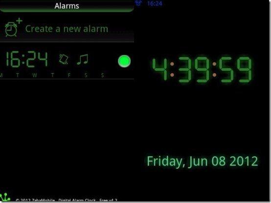 Digital Alarm Clock app