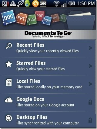 Documents To Go 3.0 Main