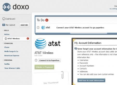 Doxo AT&T adding account