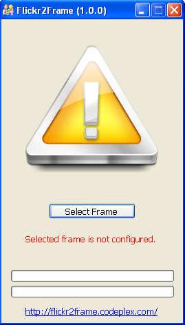 Flickr2Frame default window