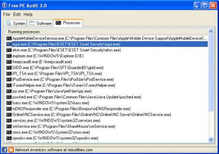 Free PC Audit processes