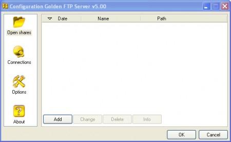 Golden FTP default window