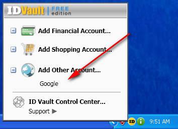 ID Vault added Google