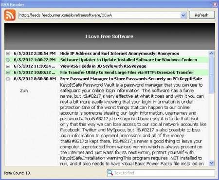 InfoBar RSS Feeder