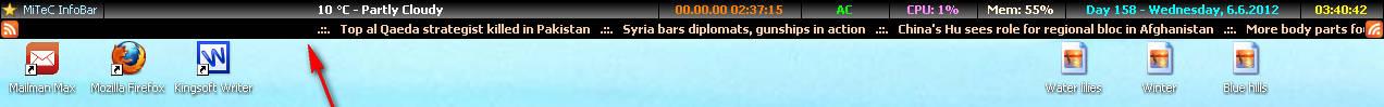 InfoBar default
