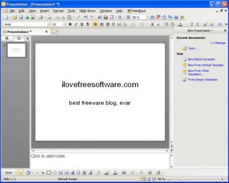 Kingsoft Office presentation default