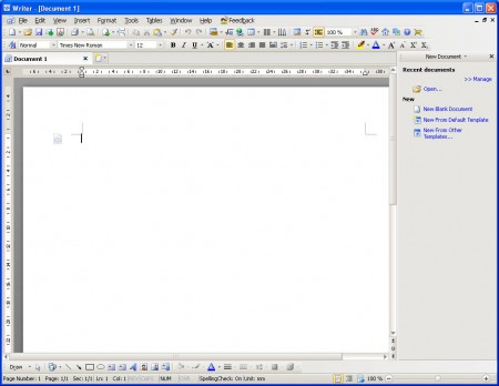 Kingsoft Office writer default