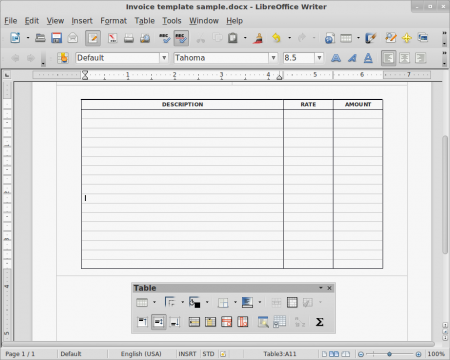 Libre Office formatting