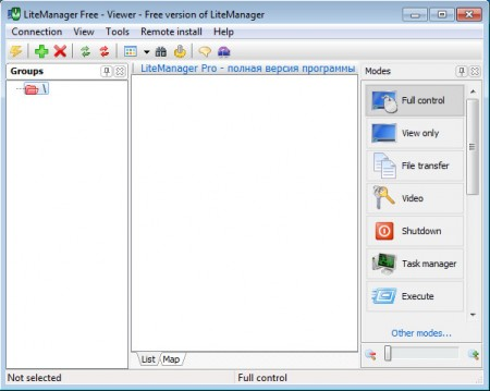 LiteManager Free default window