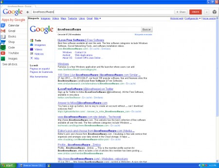 My Google Workspace search