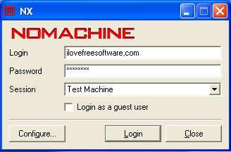 NoMachine machine added